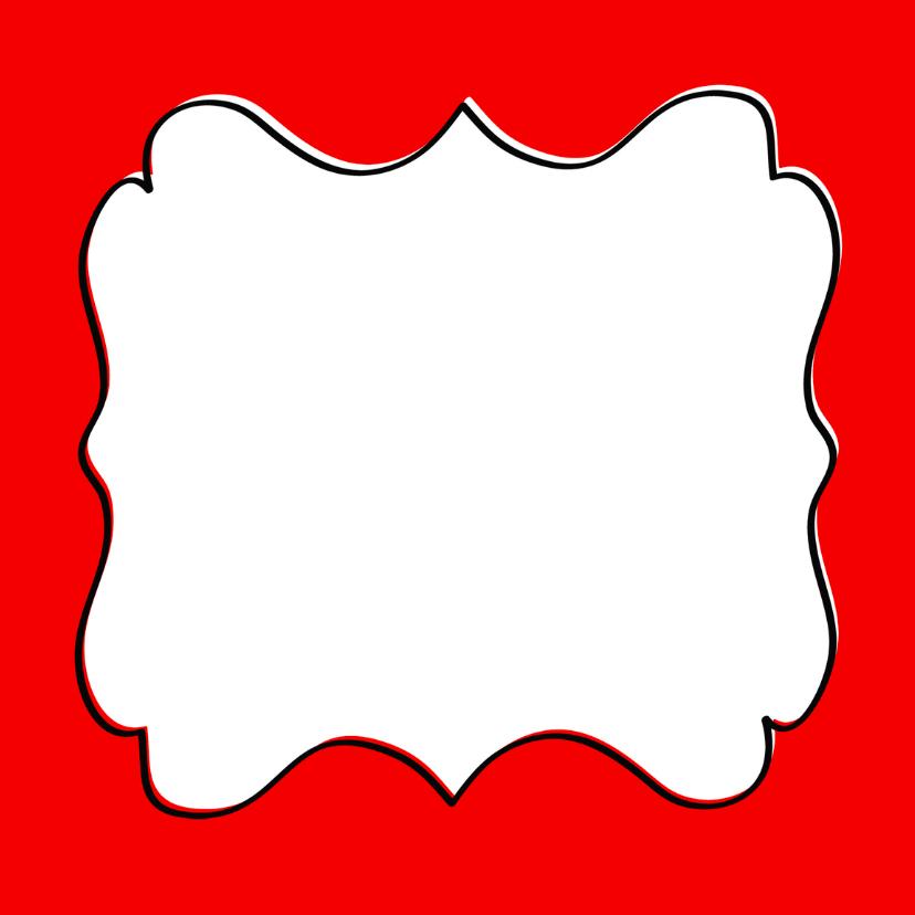 Kerstkaart Merry X-Mas schild rood 3