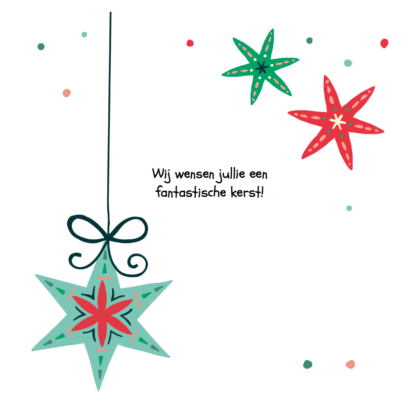 Kerstkaart met een engel die banner vasthoudt 3