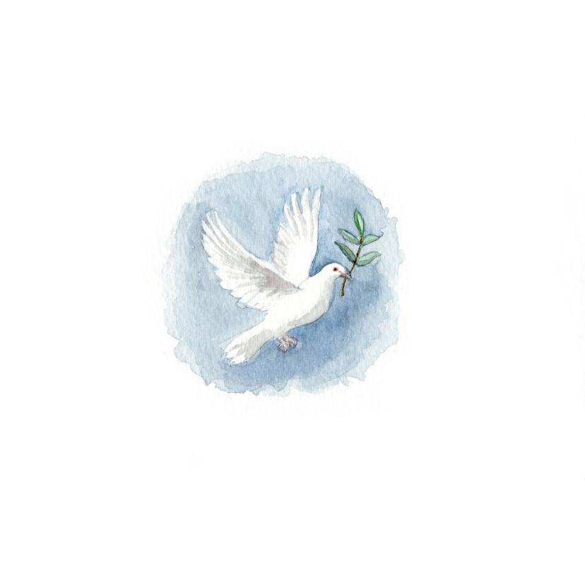 Kerstkaart met een vredesduif illustratie 2