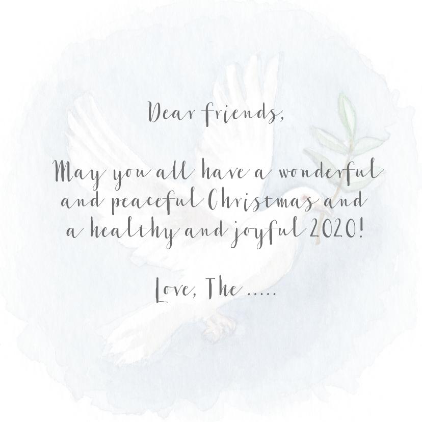 Kerstkaart met een vredesduif illustratie 3