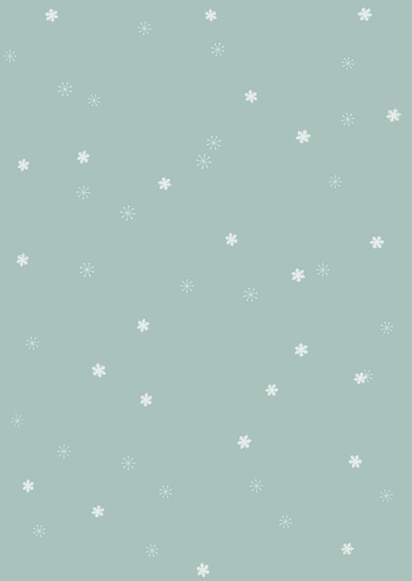 Kerstkaart met foto in winters sneeuwsterren kader 2