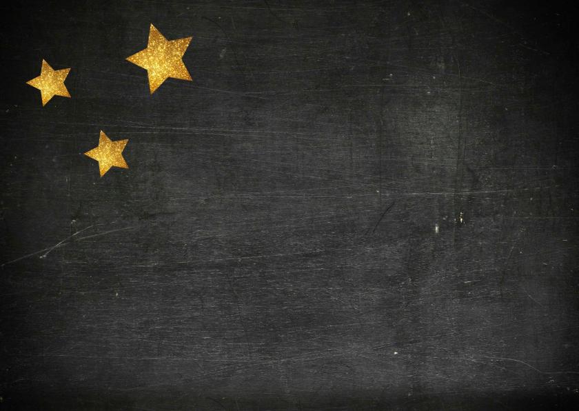 Kerstkaart met gouden sterren 2