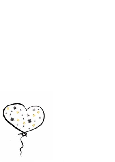 Kerstkaart met hart en sterren 2