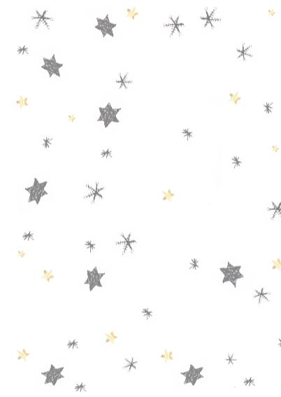 Kerstkaart met hart en sterren 3