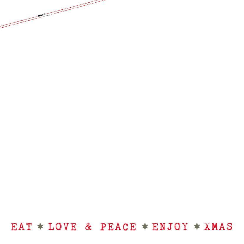 Kerstkaart  met kerstillustraties en teksten (groen/wit) 2