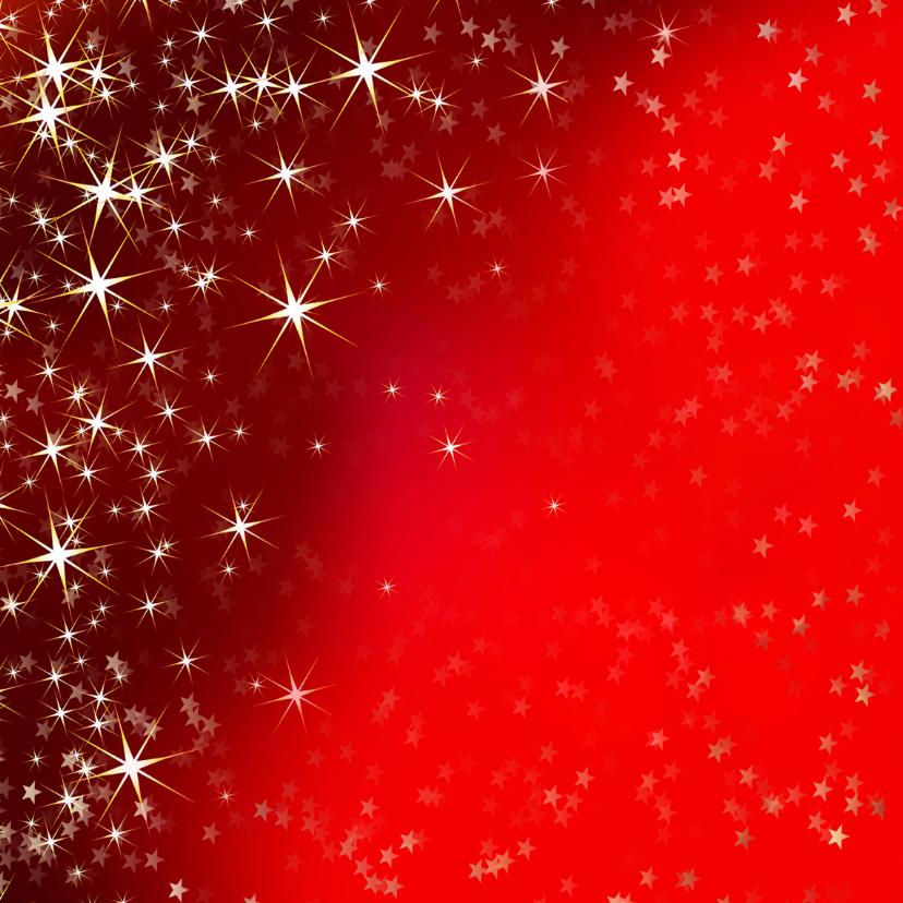 Kerstkaart met sfeervolle rode achtergrond van sterren 2