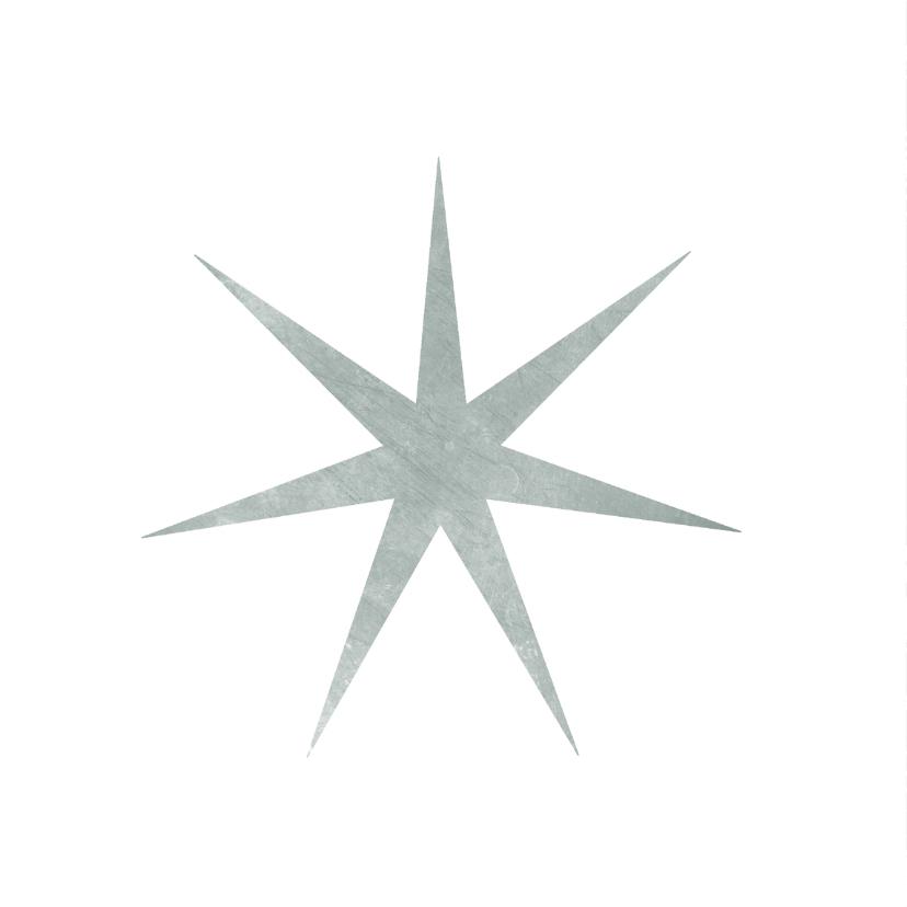 Kerstkaart met ster op groengrijze achtergrond 2