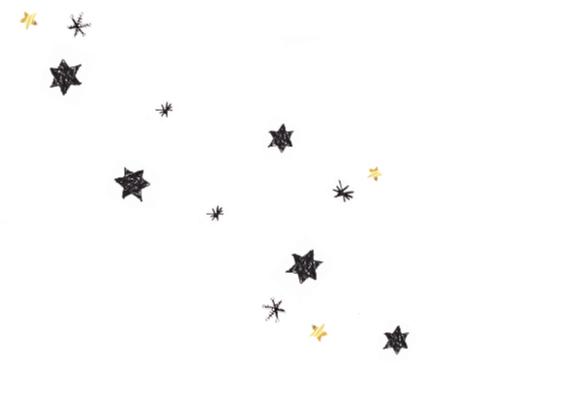 Kerstkaart met sterren en sneeuw 2