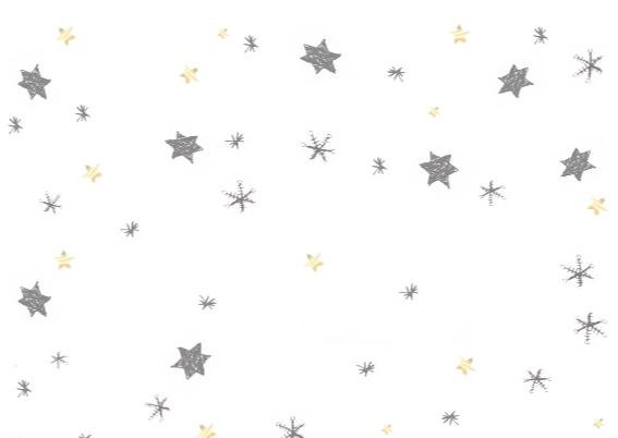 Kerstkaart met sterren en sneeuw 3