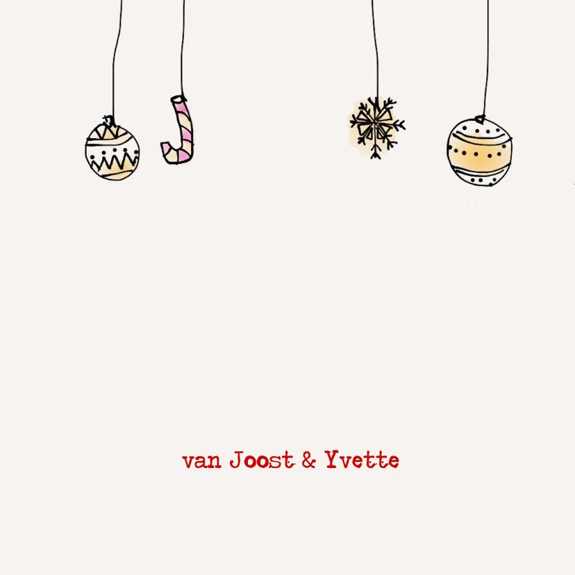 Kerstkaart Mistletoe illustratie 2