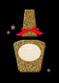 Zakelijke kerstkaarten - Kerstkaart nagelstudio glitter
