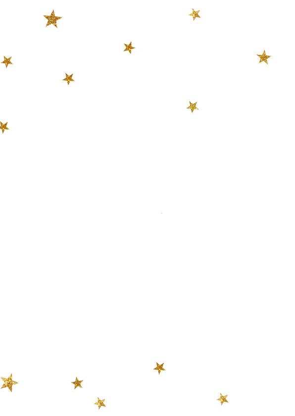 Kerstkaart negatief gouden sterretjes - BC 2