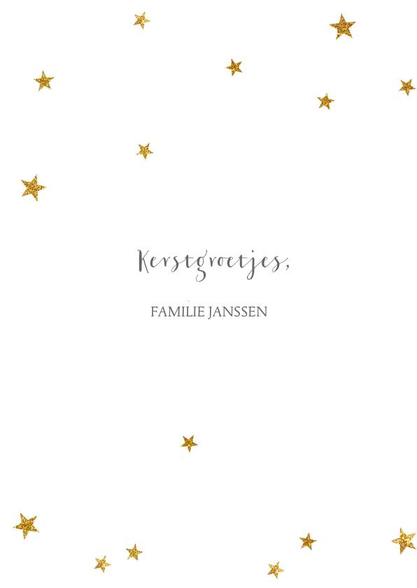 Kerstkaart negatief gouden sterretjes - BC 3