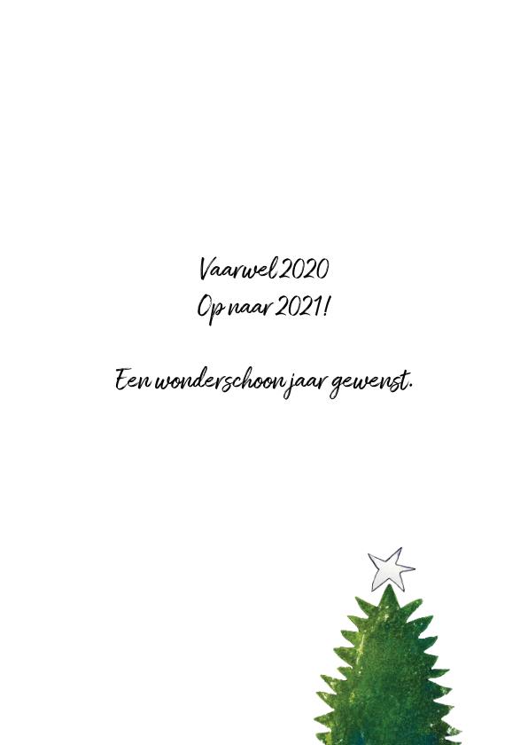 Kerstkaart oh denneboom illustratie 3