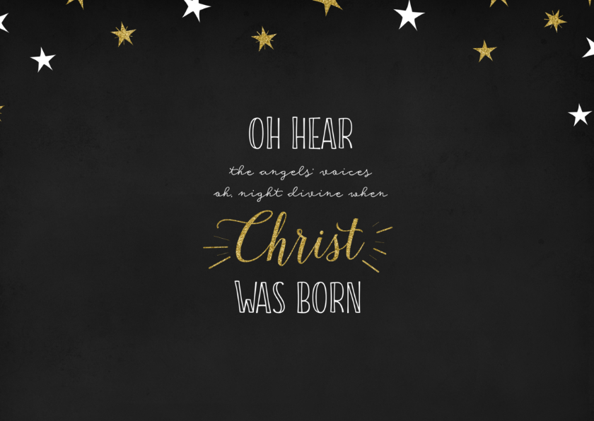 Kerstkaart Oh holy night lyrics  2