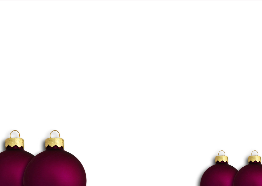 Kerstkaart paarse kerstbal 2019 - OT 3
