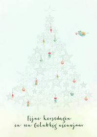 Kerstkaarten - Kerstkaart pastel recht