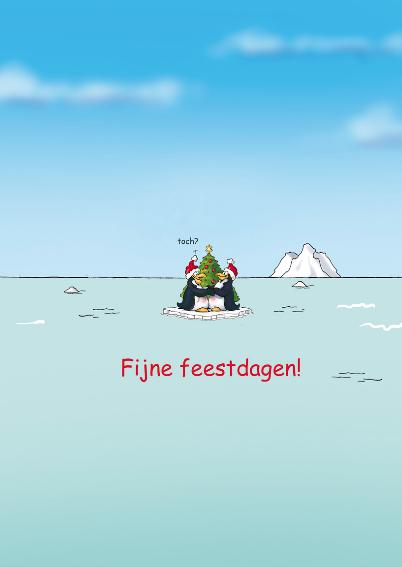 Kerstkaart penguins  Samen - RN 3