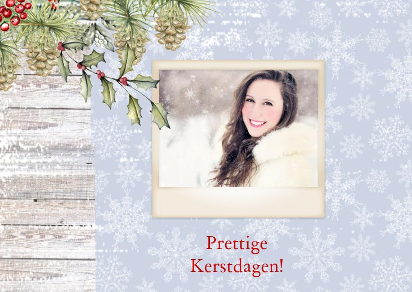 Kerstkaart rendier met  foto 2