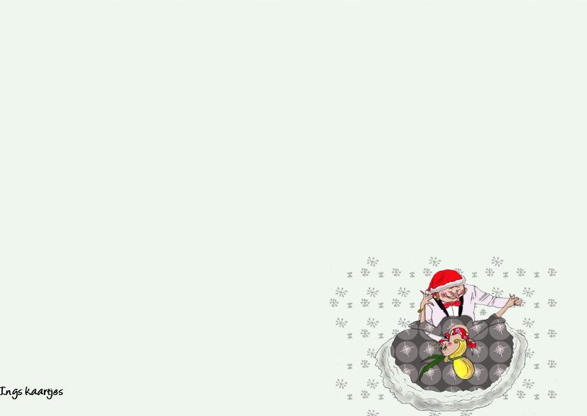 Kerstkaart romantisch danskoppel 3