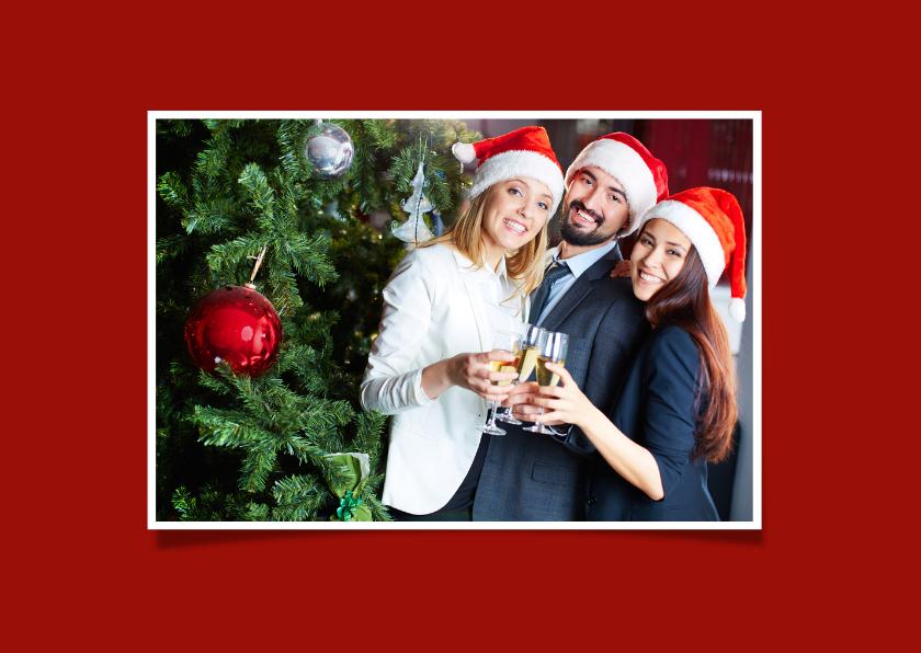 Kerstkaart Rood Goud 2019 binnen eigen foto 2