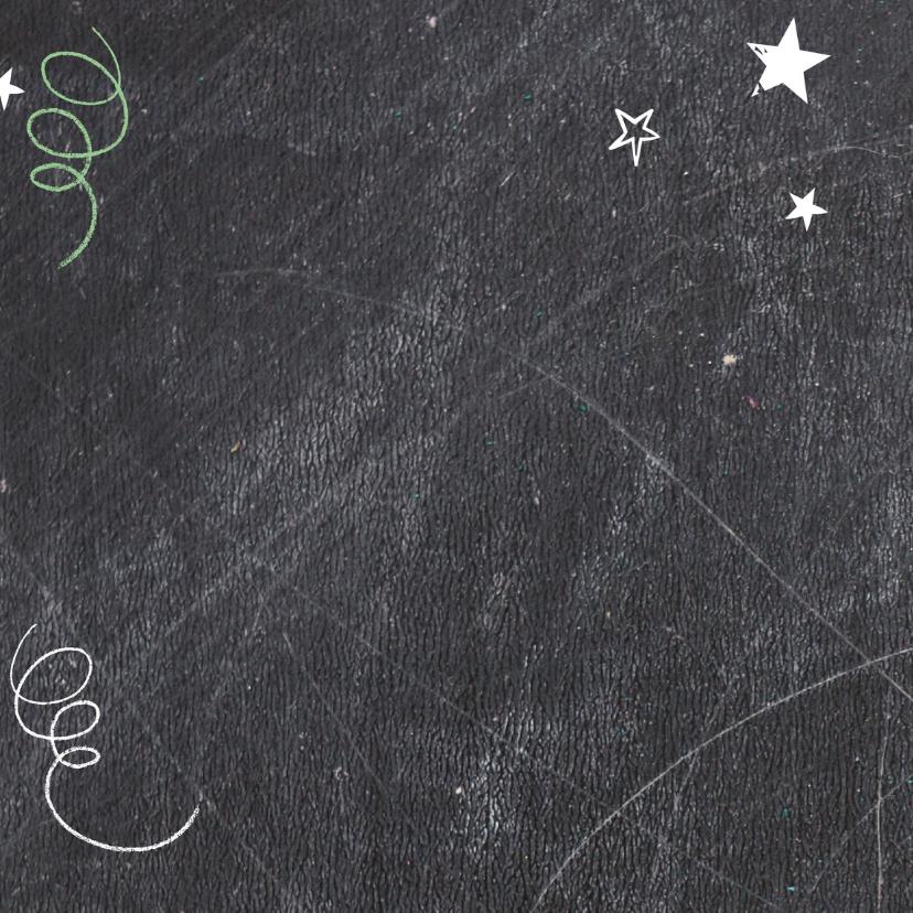 Kerstkaart Schoolbord Happy-BF 2