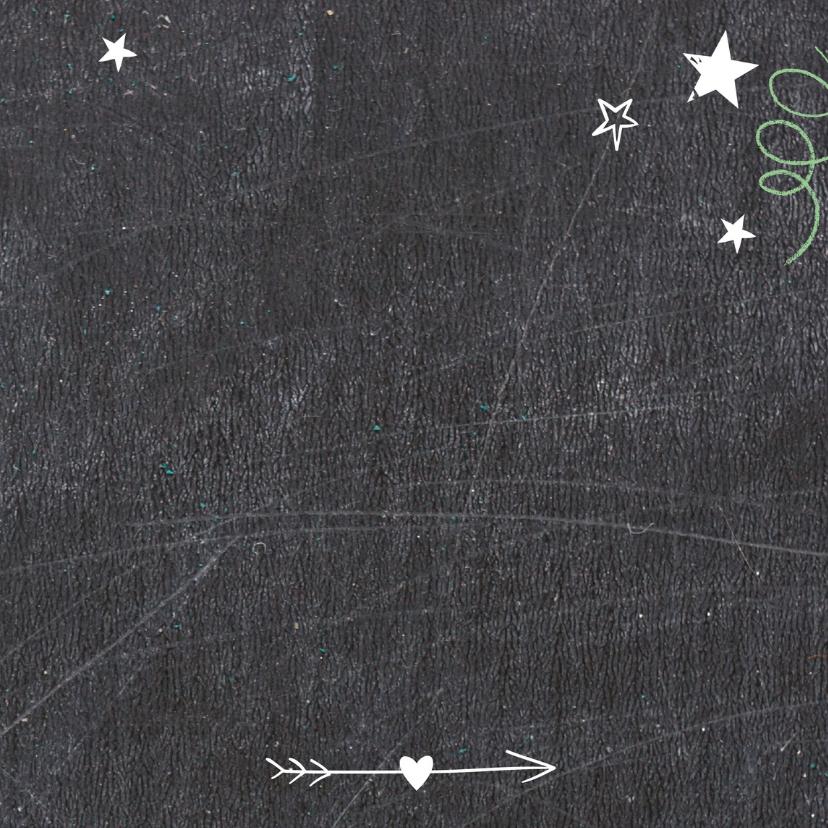 Kerstkaart Schoolbord Happy-BF 3