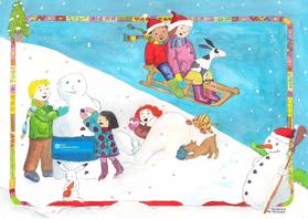 Kerstkaarten - Kerstkaart SOS Kinderdorpen Susi-Art