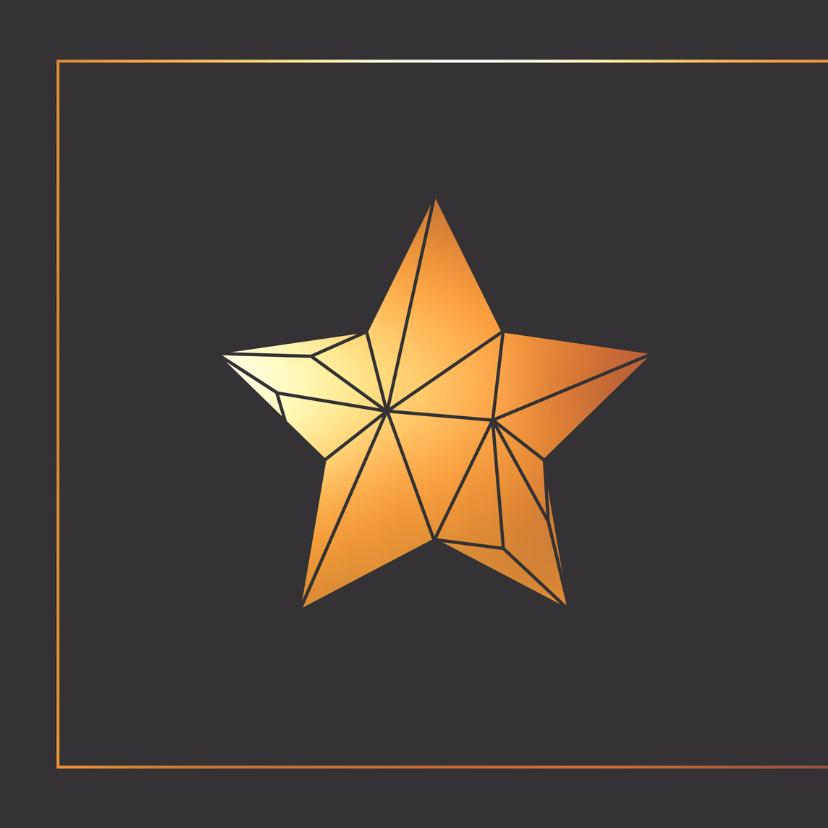 Kerstkaart ster in origami stijl 2