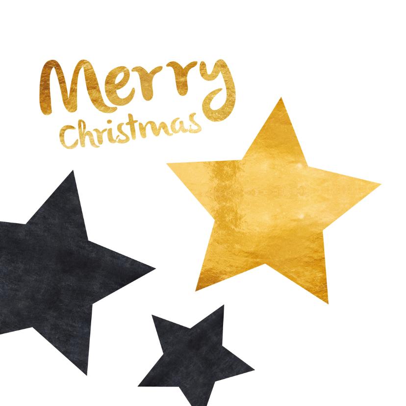 Kerstkaart ster op krijtbord 2018 2