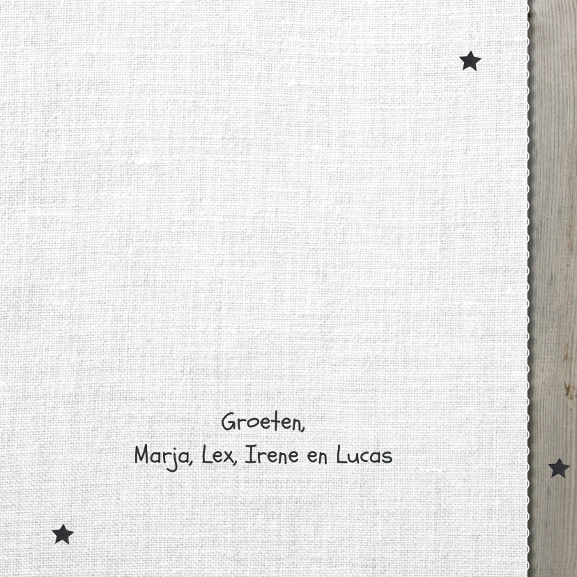 Kerstkaart sterren - lovz 3
