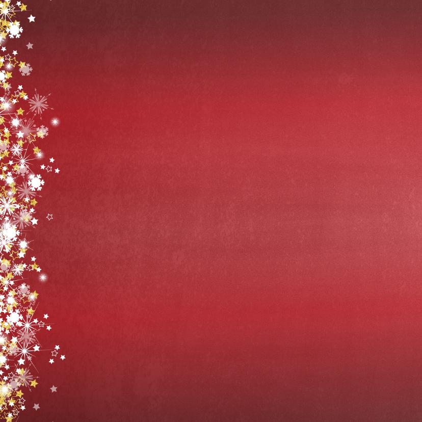 Kerstkaart stijlvol en romantisch rood sterren en sneeuw 2