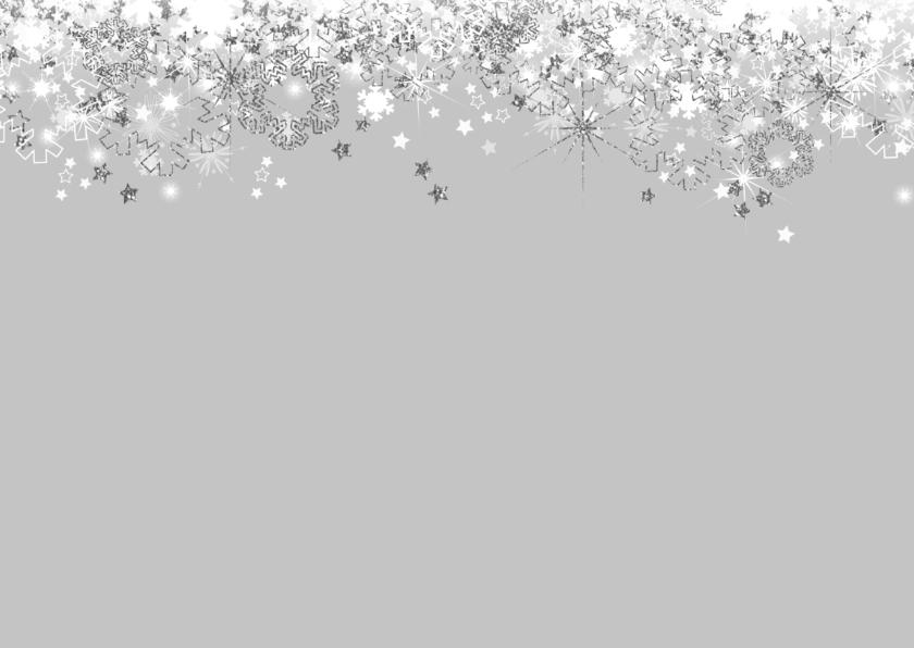 Kerstkaart stijlvol foto sterren en twinkelingen zilver 2