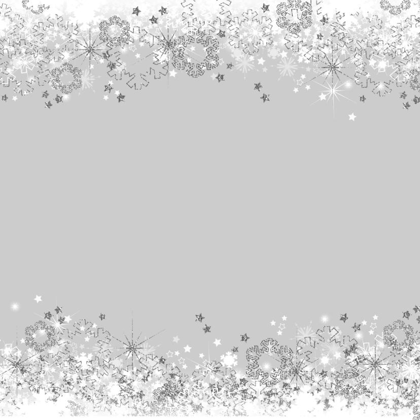 Kerstkaart stijlvolle foto kaart ster en sneeuw zilver wit 2