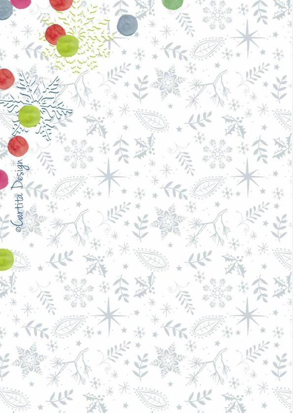 Kerstkaart Stippen en Sneeuw  2