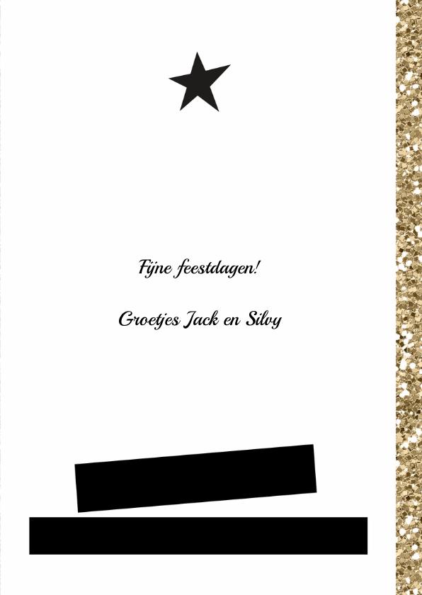 Kerstkaart trendy glitter en glamour foto kaart s 3