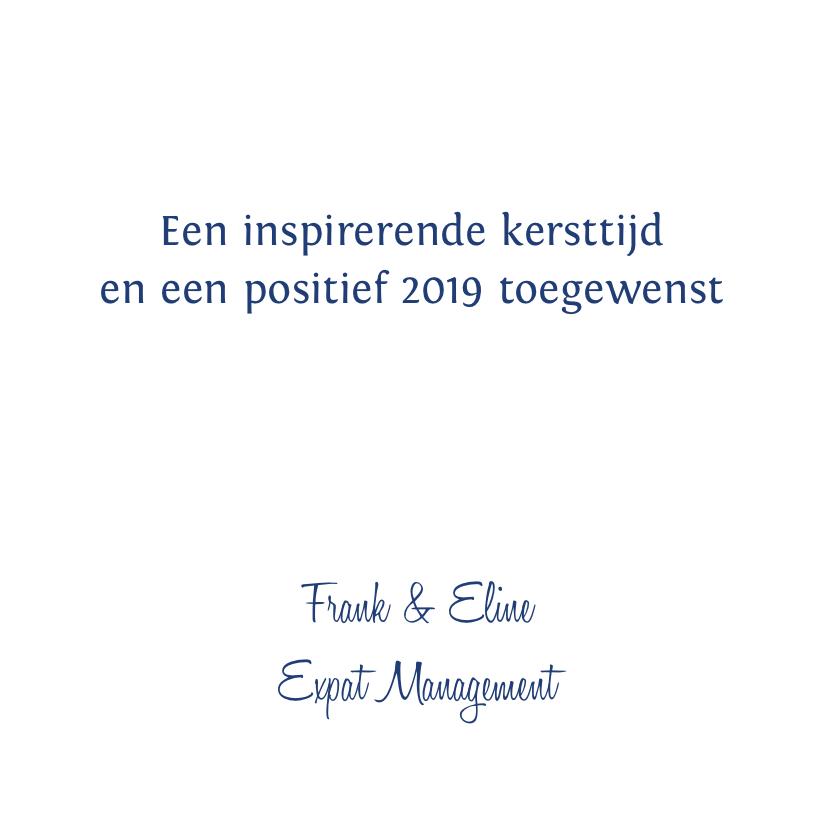 Kerstkaart typografie blauw 2019 3