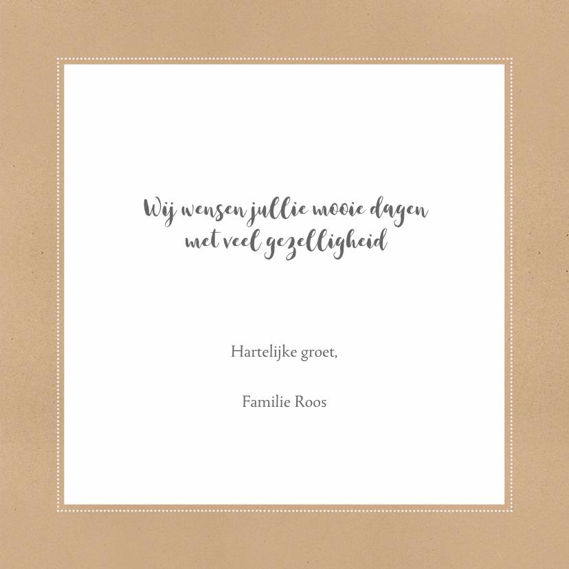 Kerstkaart typografie kraft foto - Bc 3