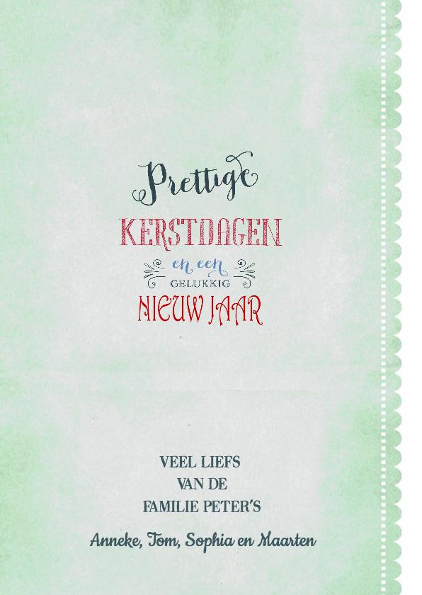 Kerstkaart Typografie Letters 3