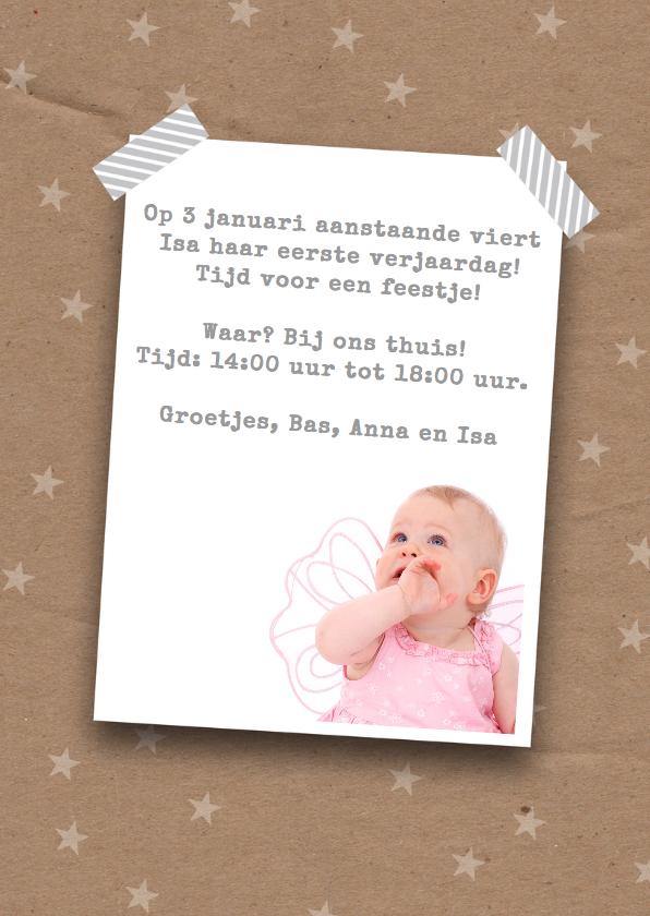 Kerstkaart uitnodiging foto's hip 3