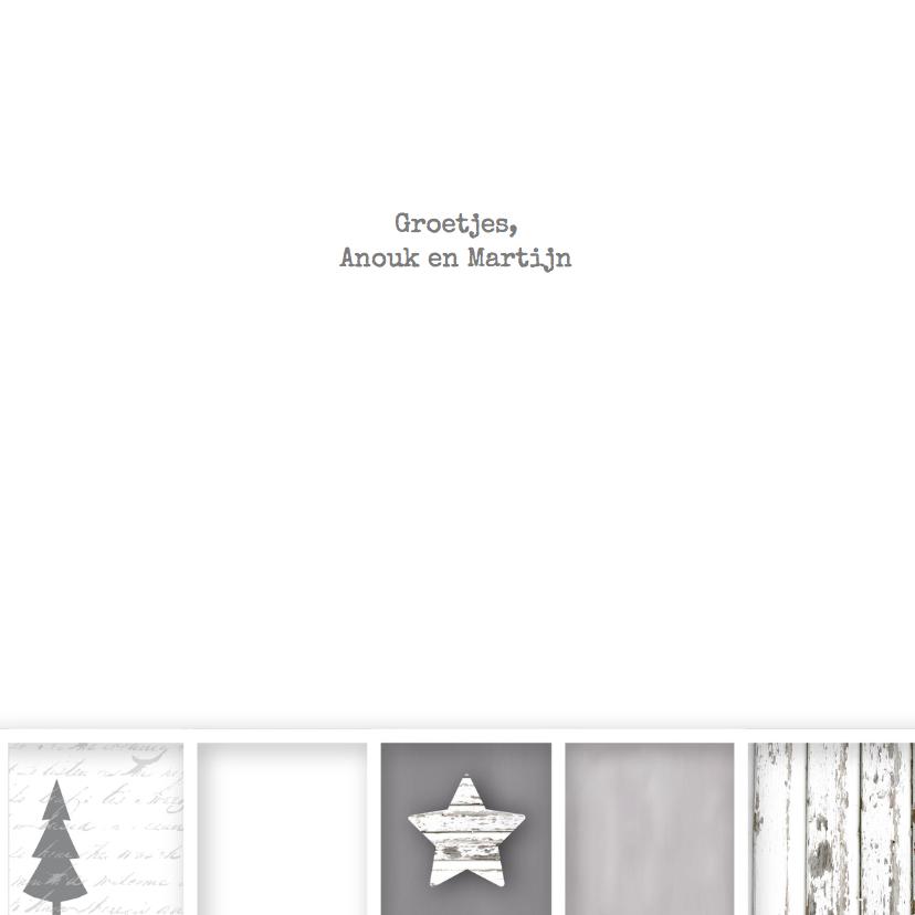 Kerstkaart vakjes foto sterren stoer 3