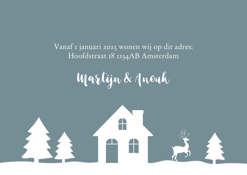 Kerstkaart verhuiskaart foto illustratie 3