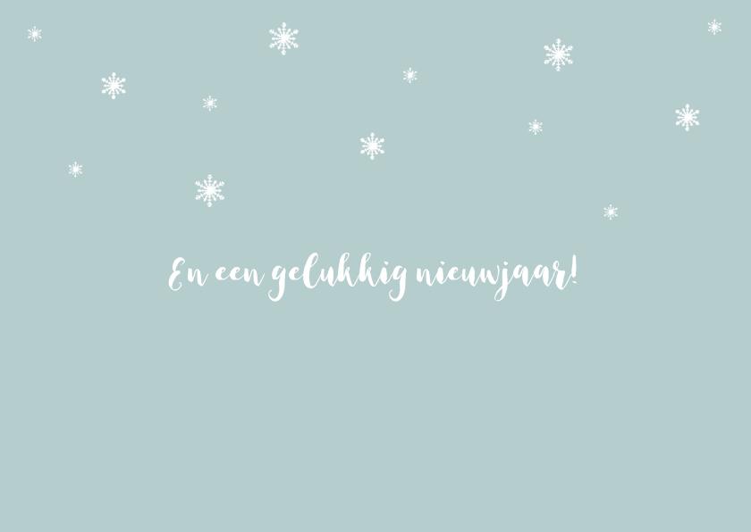 Kerstkaart verhuiskaart huisje sneeuw silhouet 2
