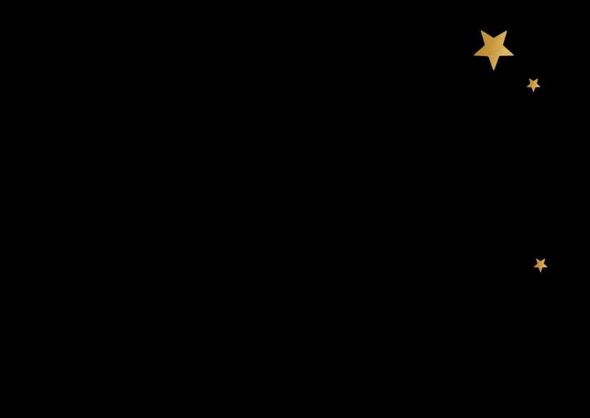 Kerstkaart Very Merry Christmas zwart en goud 2