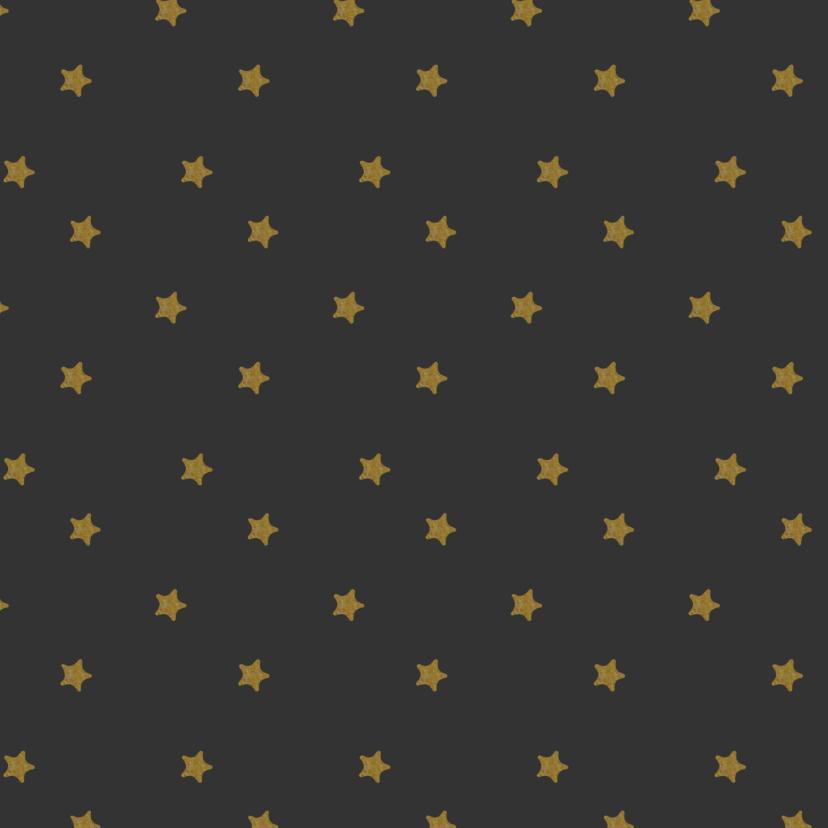 Kerstkaart vierkant met foto en gouden letters 2