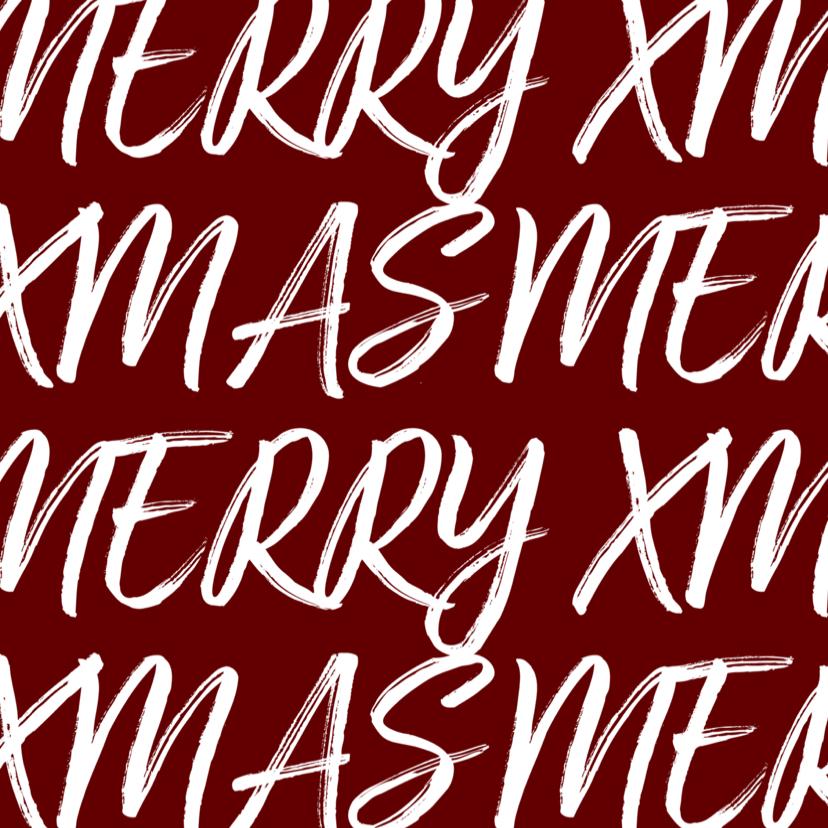 Kerstkaart vierkant met handgeschreven tekst en foto 2