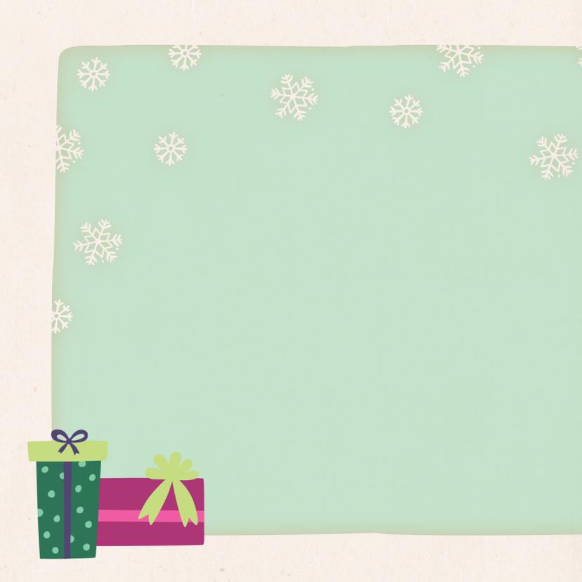 Kerstkaart vierkant vos - BK 2
