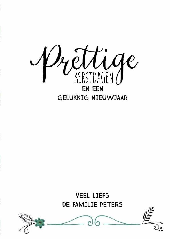 Kerstkaart Vintage Papier Tekst 3