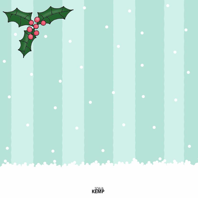Kerstkaart Vogel in sneeuwbol - SK 2