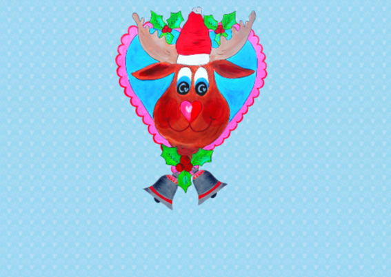 Kerstkaart Vrolijk PA 2